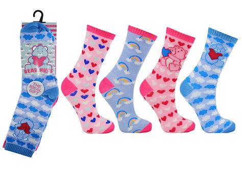 Girls 3pk Novelty Bear Hugs Socks