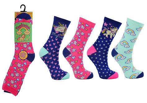 Girls 3pk Novelty Daydreamer Socks