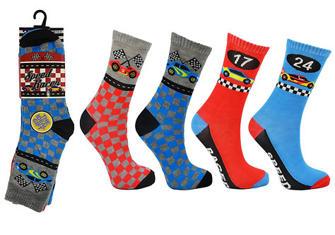 Boys 3pk Novelty Speed Racer Socks
