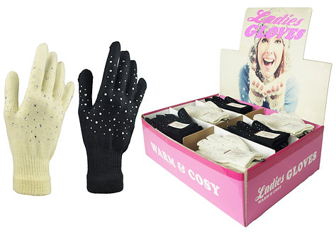 Ladies 1pk Jewel Gloves