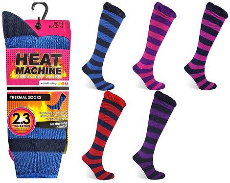 Heat Machine Ladies Stripe Socks