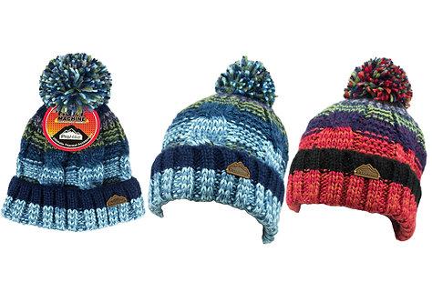 Mens 1pk ProHike Multi Coloured Pom Pom Hat