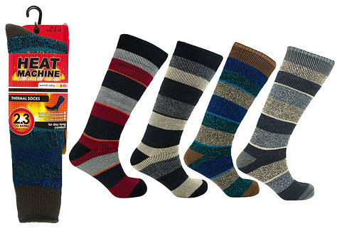 Mens 1pk HM Thermal Long Stripe Socks