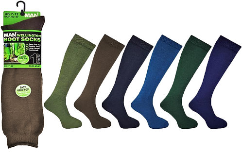 Mens 1pk Wellington Socks