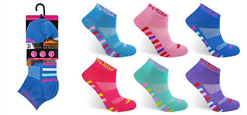 Ladies 3pk Design Trainer Socks