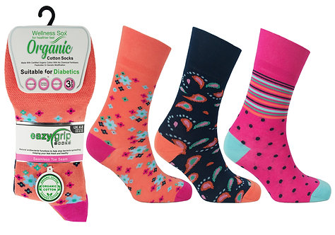 Ladies 3pk Wellness Miami Socks