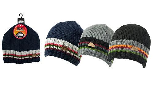 Mens 1pk ProHike Stripe Rim Beanie Hat