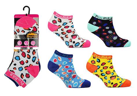 Ladies 3pk Design Trainer Socks