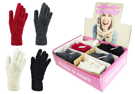 Ladies 1pk Feather Gloves