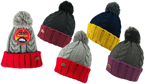 Mens 1pk ProHike Colour Block Pom Pom Hat