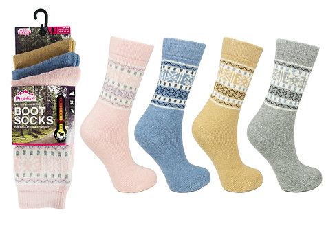 Ladies 3pk ProHike Design Wool Boot Socks