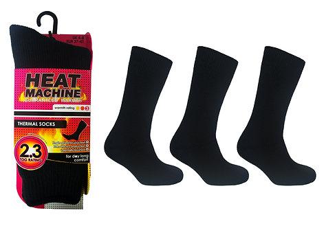 Ladies 1pk HM Thermal Black Socks