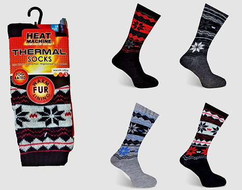 Heat Machine Mens Fur Lined Socks