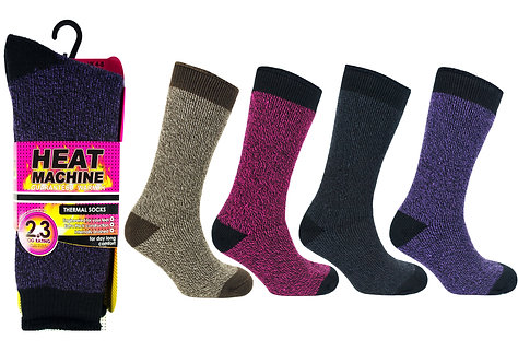 Ladies 1pk HM Thermal Twist Socks