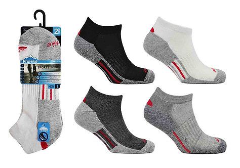 Mens 2pk Cushion Sole Trainer Socks