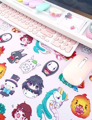 PINK Baby Ghibli Tapete de escritorio - Alfombrilla de ratón