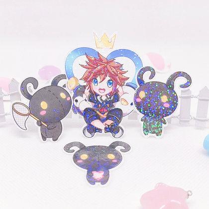 Pegatina holográfica Kingdom Hearts
