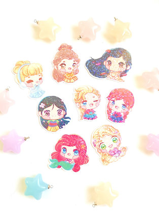Pegatina holográfica Princesas