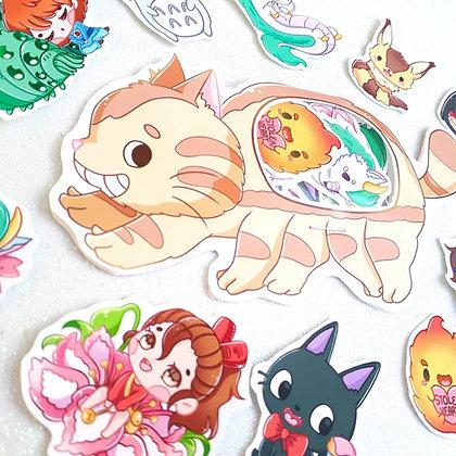 Gato bus Set de Pegatinas Baby Ghibli
