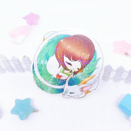 Pegatina holográfica Chihiro y Haku
