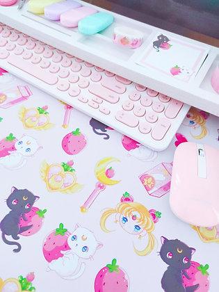 Sailor Strawberry Tapete de escritorio - Alfombrilla de ratón