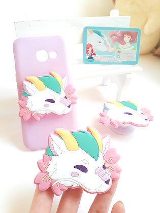 Haku - Soporte de móvil de silicona Ghibli