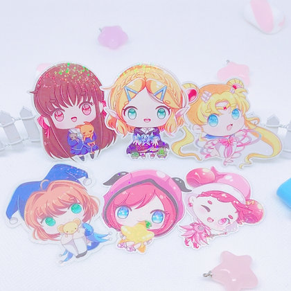 Pegatina holográfica Shojo Heroines