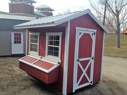 6x8 Chicken Coop Shed