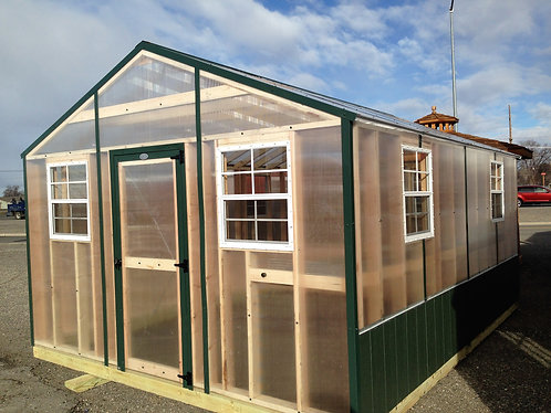 12x16  GreenHouse with Full length bench and raised bed!