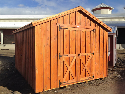 10x12 Garden Shed with Board and Batten Siding