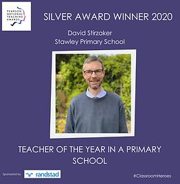 SILVER AWARD WINNER 2020 - TEACHER OF TH