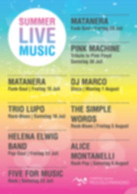 Summer live music concert