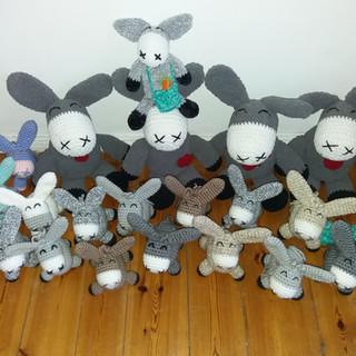 Esel Friedolin & Familie