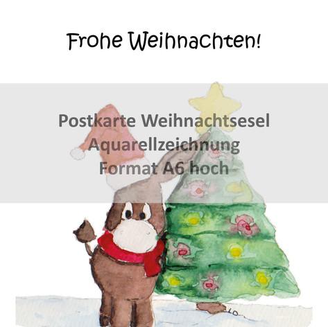 Weihnachtsesel