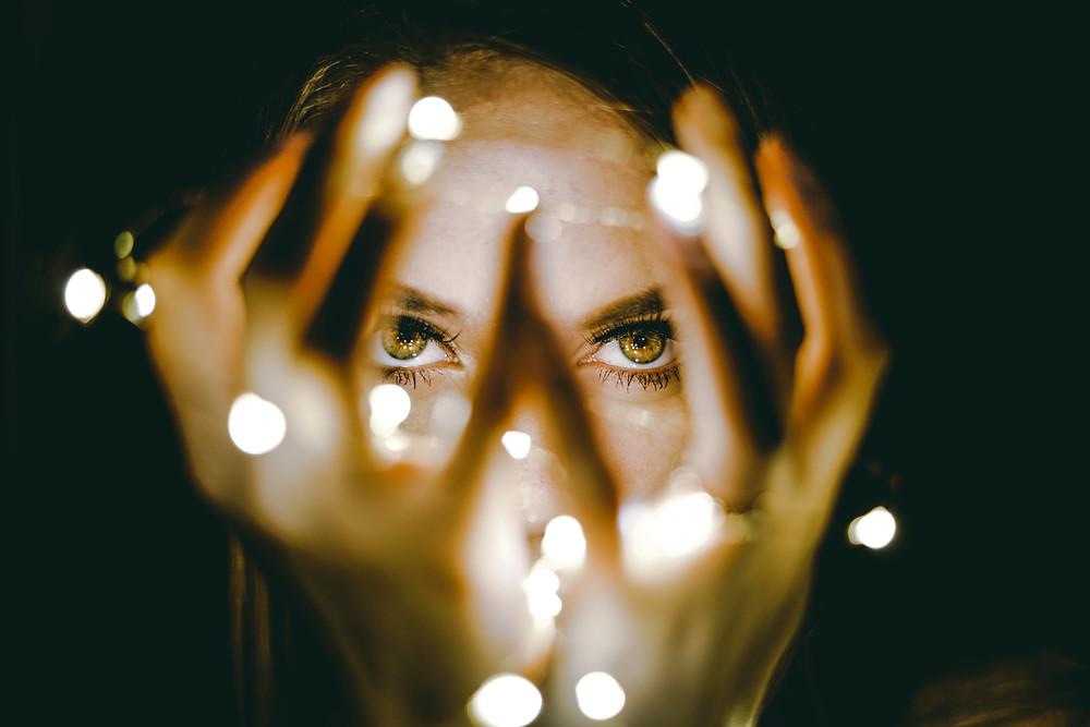 Lights in hands