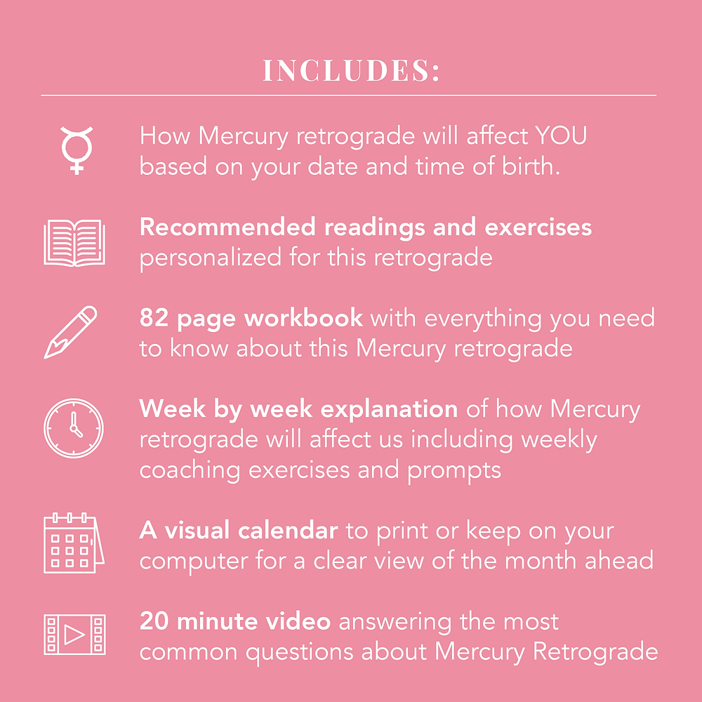 Mercury retrograde in Scorpio LUTS Workbook