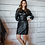 Thumbnail: Shirley leather look dress