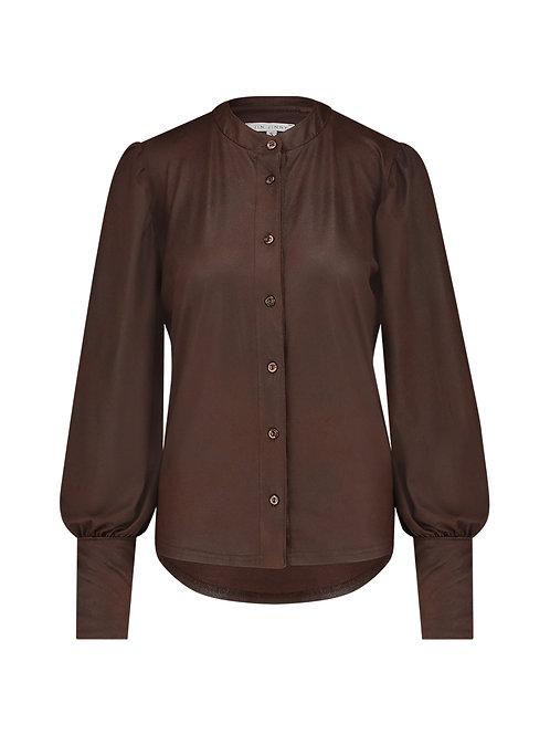 Amanda Leather look blouse