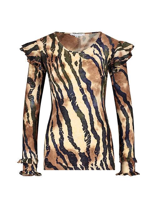 Claudia top zebra