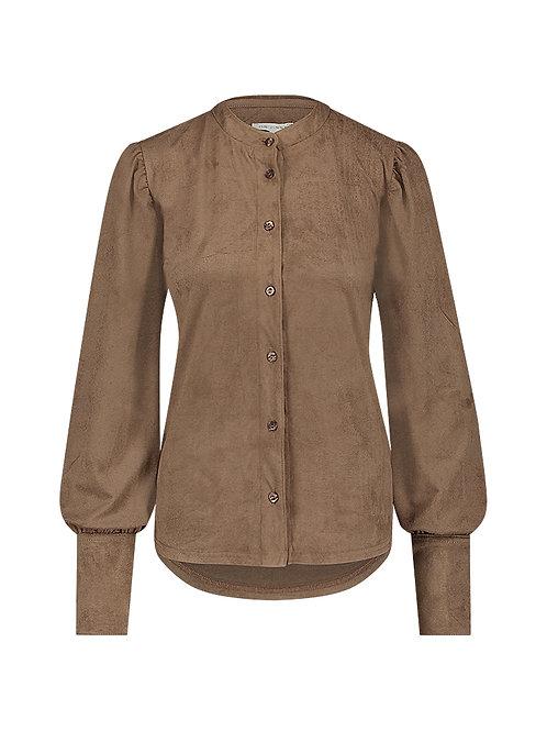Amanda suede look blouse