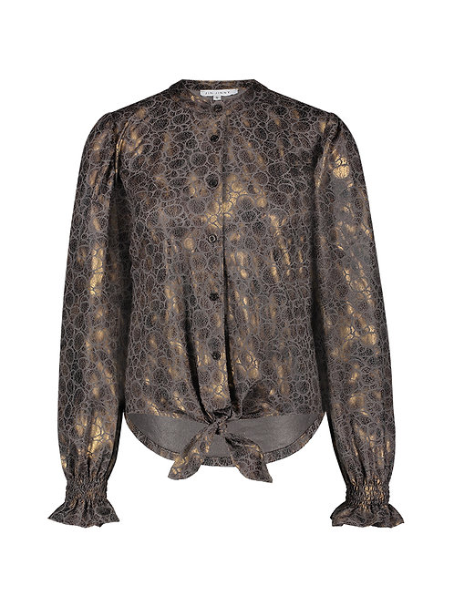 Noa blouse metallic brown