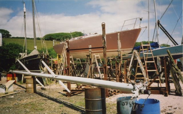 Ntombifuti 2003 ashore in Salcombe