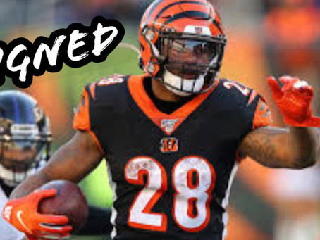 Mixon is Locked In!