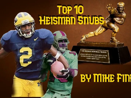 Top 10 Heisman Snubs