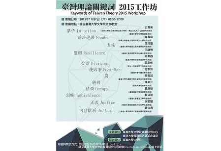 Keywords of Taiwan Theory 2015 Workshop