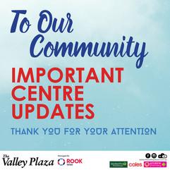 Important Centre Updates! 21/7/2021
