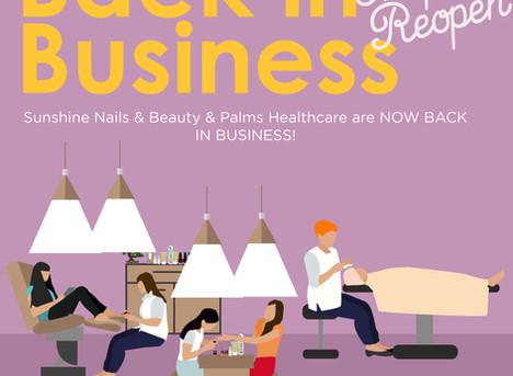 Sunshine Nail & Beauty, Palms Healthcare are BACK!
