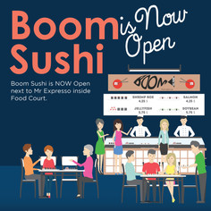 BOOM SUSHI is NOW OPEN
