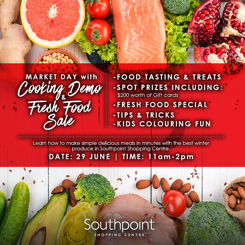 Market Day with Cooking Demo & Fresh Food Sale