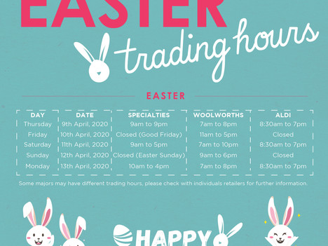 Easter & School Holidays Events Cancelled